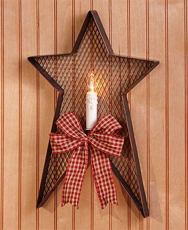 Country Star Wall Sconces