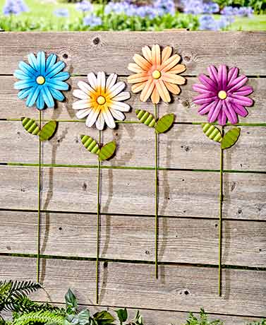 Sets of 4 Themed Garden Stakes