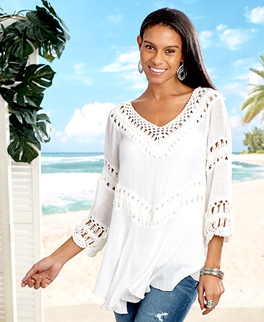 Women's Crochet Beach Tops