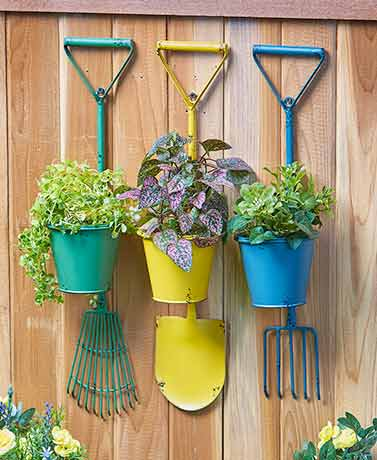 Wrought Iron Tool Planters