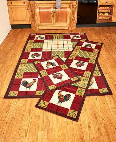 Country Rooster Rug Collection