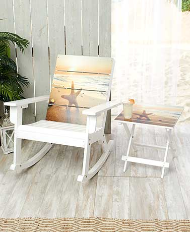 Coastal Rocking Chair or Side Table