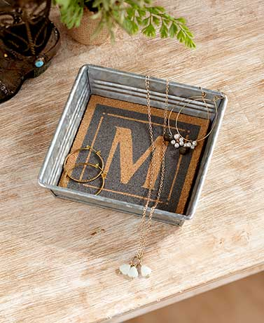 Monogram Keepsake Trays