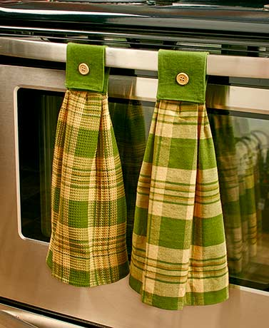 Sets of 2 Hanging Country Kitchen Towels