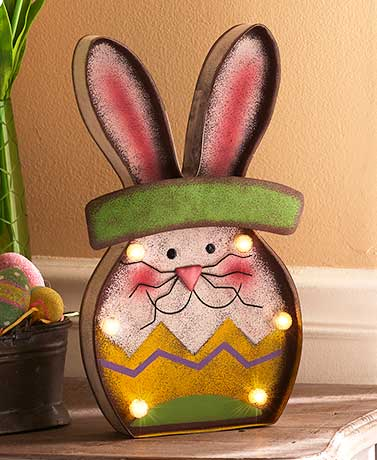 Easter Bunny Decor - Lighted Bunny