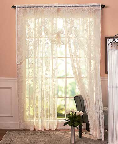 Abbey Rose Vintage Lace Curtain