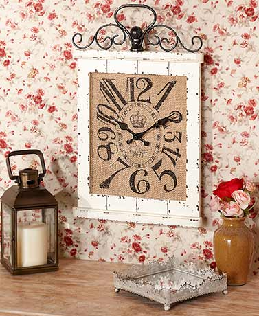 Decorative Beadboard Wall Clocks