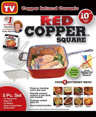Red Copper™ 5-Pc. Square Pan Set