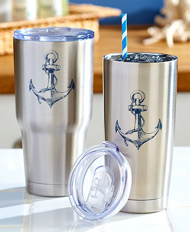 Nautical Stainless Steel Drinkware