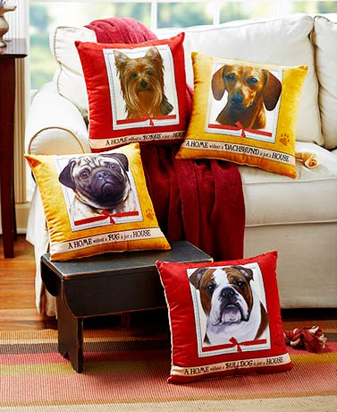 Super-Soft Dog Breed Pillows