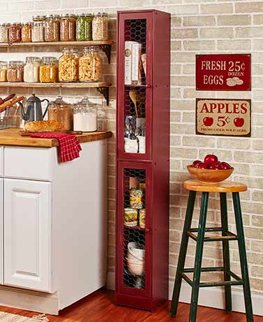 Slim Rustic Country Cabinets