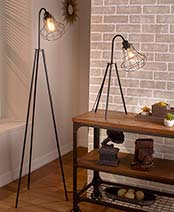 Caged Tripod Lamps