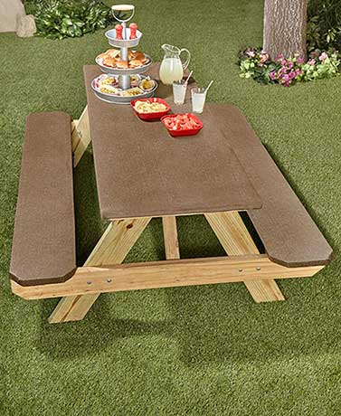 3-Pc. Textured Picnic Table Covers