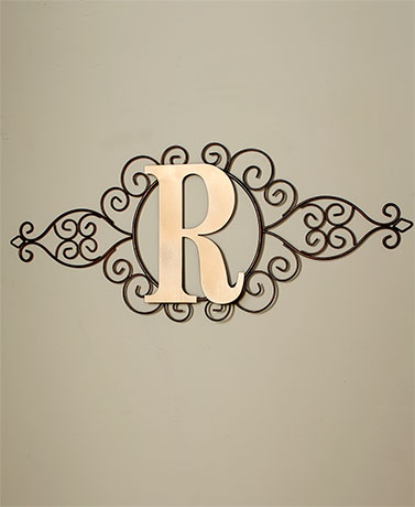 Monogram Metal Wall Art