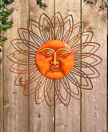 Metal Wall Sun Faces