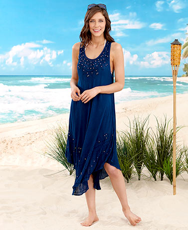 Women's and Women's Plus Embroidered Cover-Ups