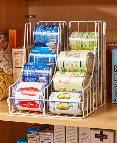 Quick view double pantry can organizers