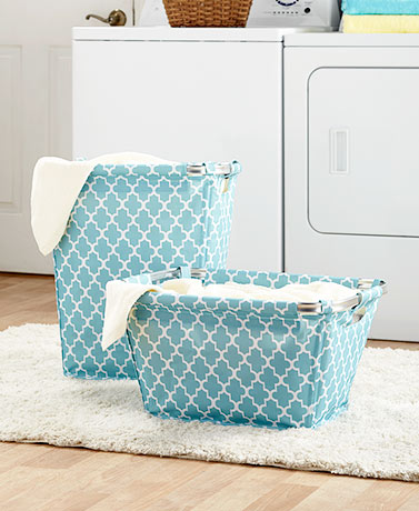 Fashionable Laundry Storage and More