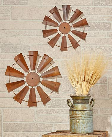 2-Pc. Windmill Wall Decor Sets