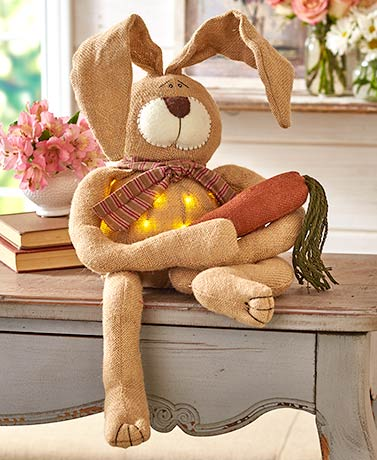"33"" Lighted Country Bunny"