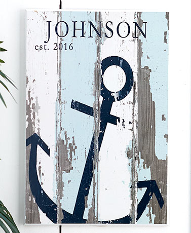 Coastal-Themed Personalized Plaques