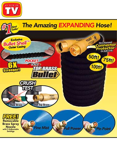 Pocket Hose® Top Brass® Bullet™ Hoses