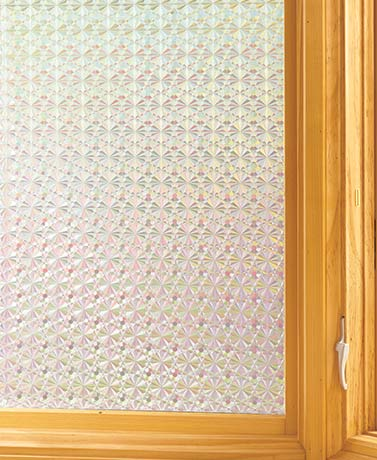 Peel and Stick Privacy Film - Metallic Diamonds