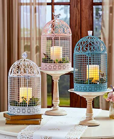Oversized Vintage Jeweled Cages