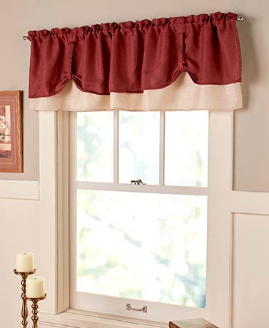 Darcy Double-Layer Window Valances