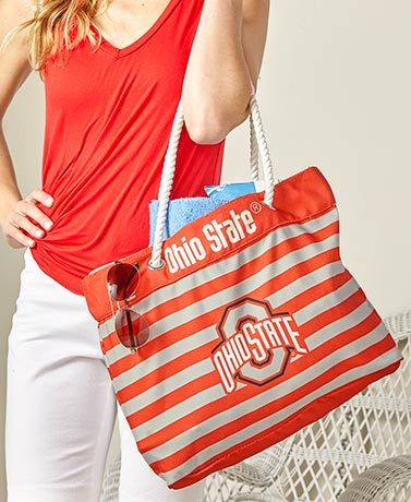 Collegiate Nautical Striped Totes
