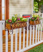 Decorative Rail or Fence Planters