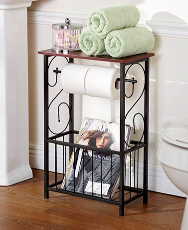 Scrolled Bathroom Storage Tables