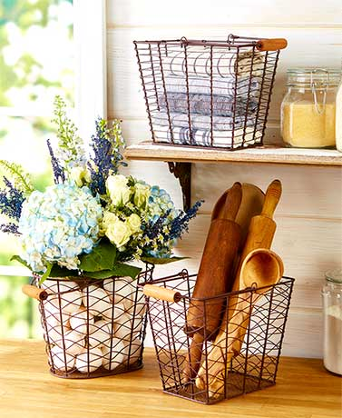 Set of 3 Farmhouse Baskets