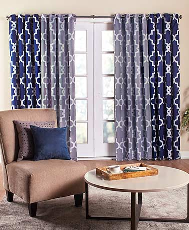 Room-Darkening Lattice Grommet-Top Curtain