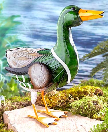 Metal Farm Animal Sculptures - Duck