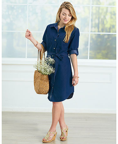 Lightweight Denim Shirtdress