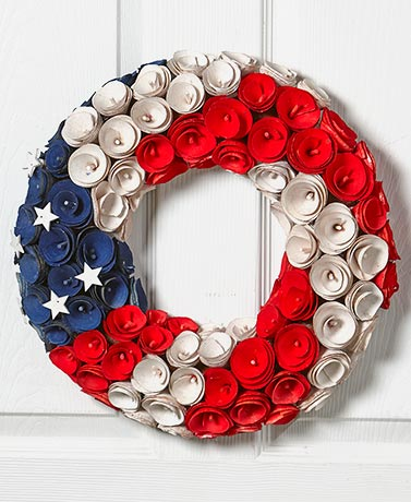 Americana Wood Curl Wreath