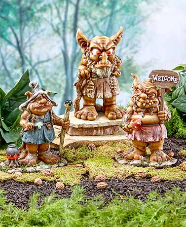 oversized garden trolls the lakeside collection