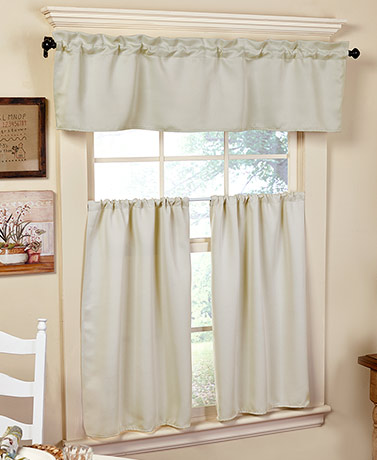 Quick View 3 Pc. Blackout Kitchen Curtains