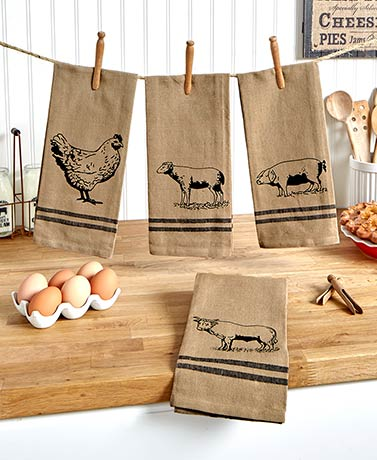 4-Pc. Farmhouse Kitchen Towel Set