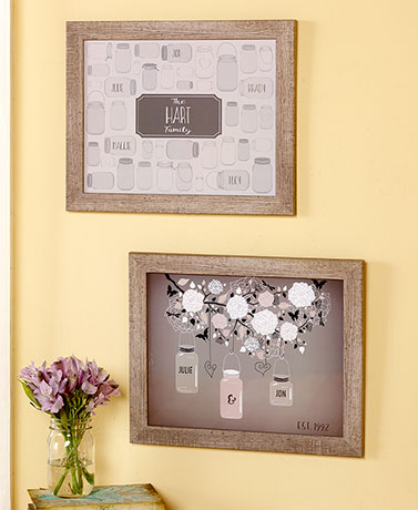 Personalized Mason Jar Prints