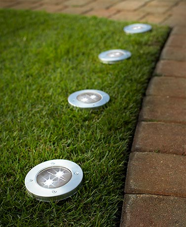 Set of 4 Solar Pathway Garden Lights