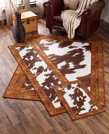 Cowhide-Look Rug Collection