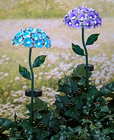 26 Light Solar Flower Stakes The Lakeside Collection