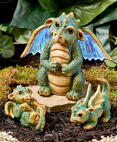 More Options · Fairytale Dragon Garden Statues