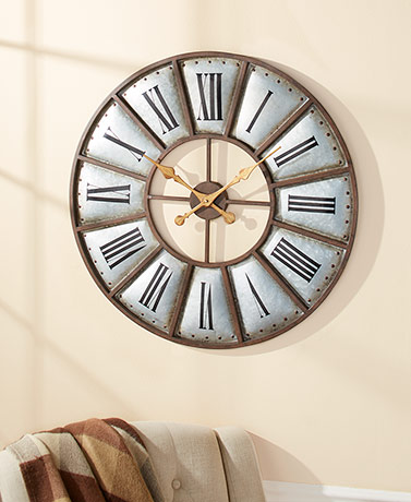 "30"" Metal Country Farmhouse Clock"