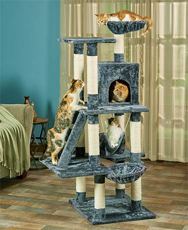 Oversized 6-Level Cat Play Tower