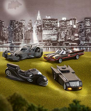 DC Series Batmobiles or Cycle with Light and Sound
