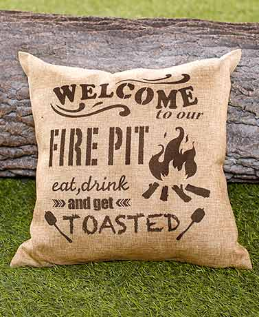 Welcome to My Campfire Pillow