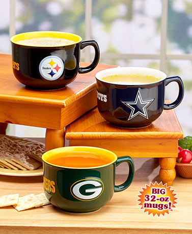 NFL 32-oz. Sculpted Bowl Mugs